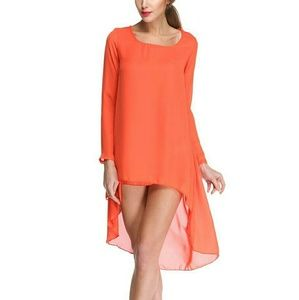 Long Sleeves Asymmetrical Casual Party Dress